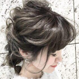 bloomsweet-グレージュカラーでヘアアレンジ
