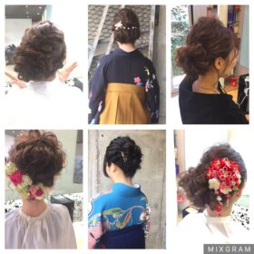 PUREE de FLEURS-6種の後ろ髪