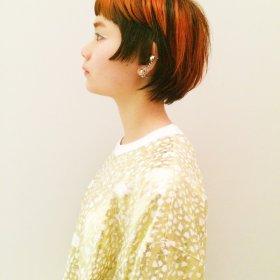 CLEAR_of_hair_issha-オレンジとブラックのショート
