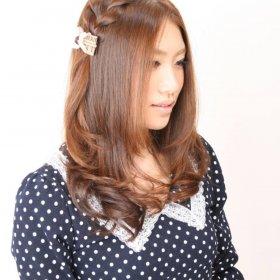 TerraNature-ブラウンロングと編み髪