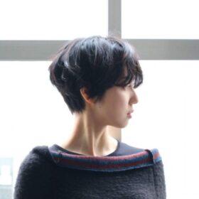 meika-綺麗な球形のショートヘアその1