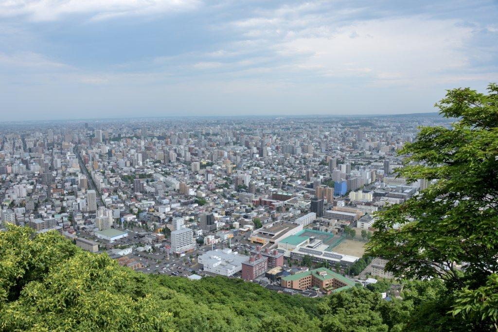円山山頂から見た市街地