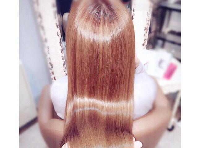 soleil-トリートメントでツヤツヤになった髪の写真