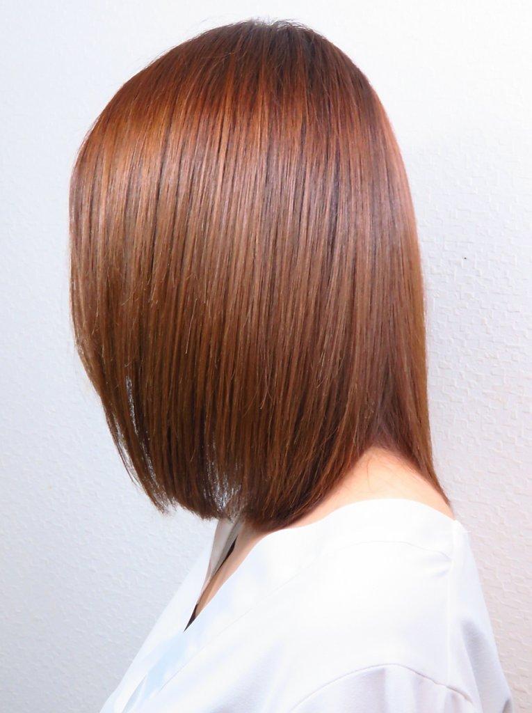 レゾを使用した髪の写真
