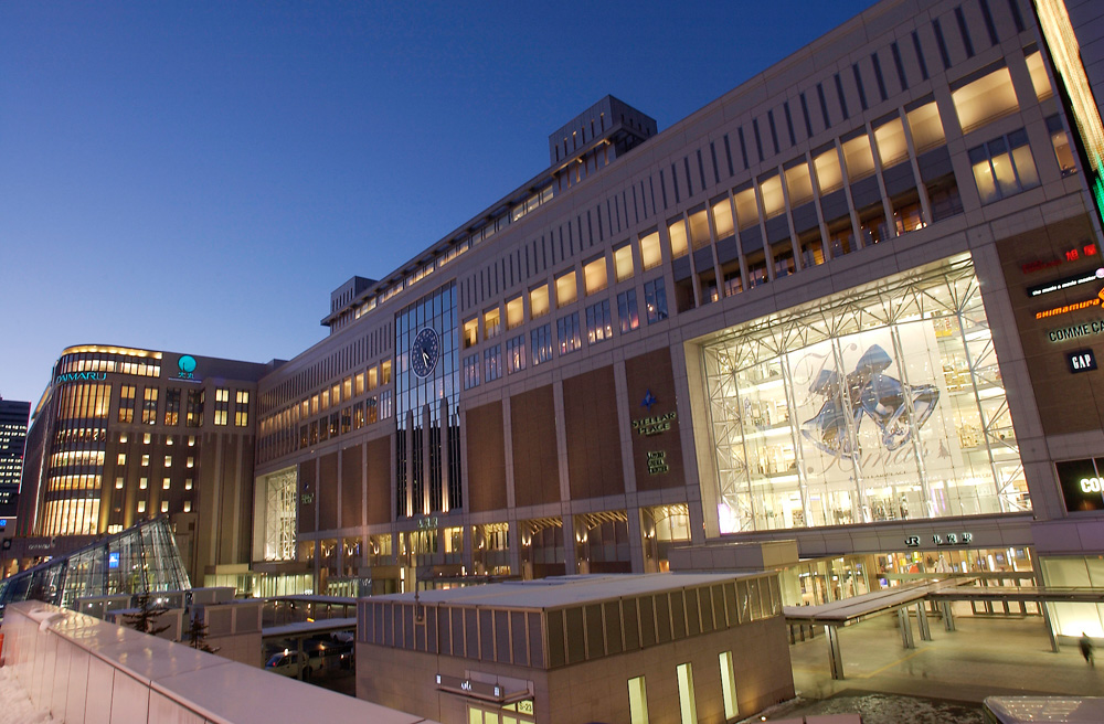 satsueki-夜の札幌駅