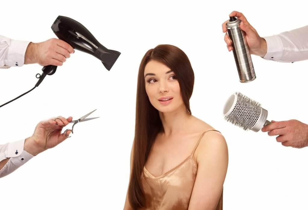 cutmodel-ロングヘアの女性