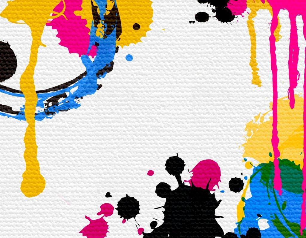 いろんな色がついているキャンパスの画像