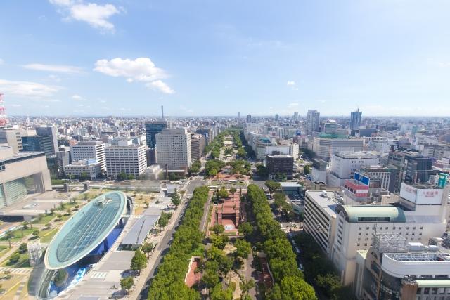 久屋大通公園とオアシス21の写真