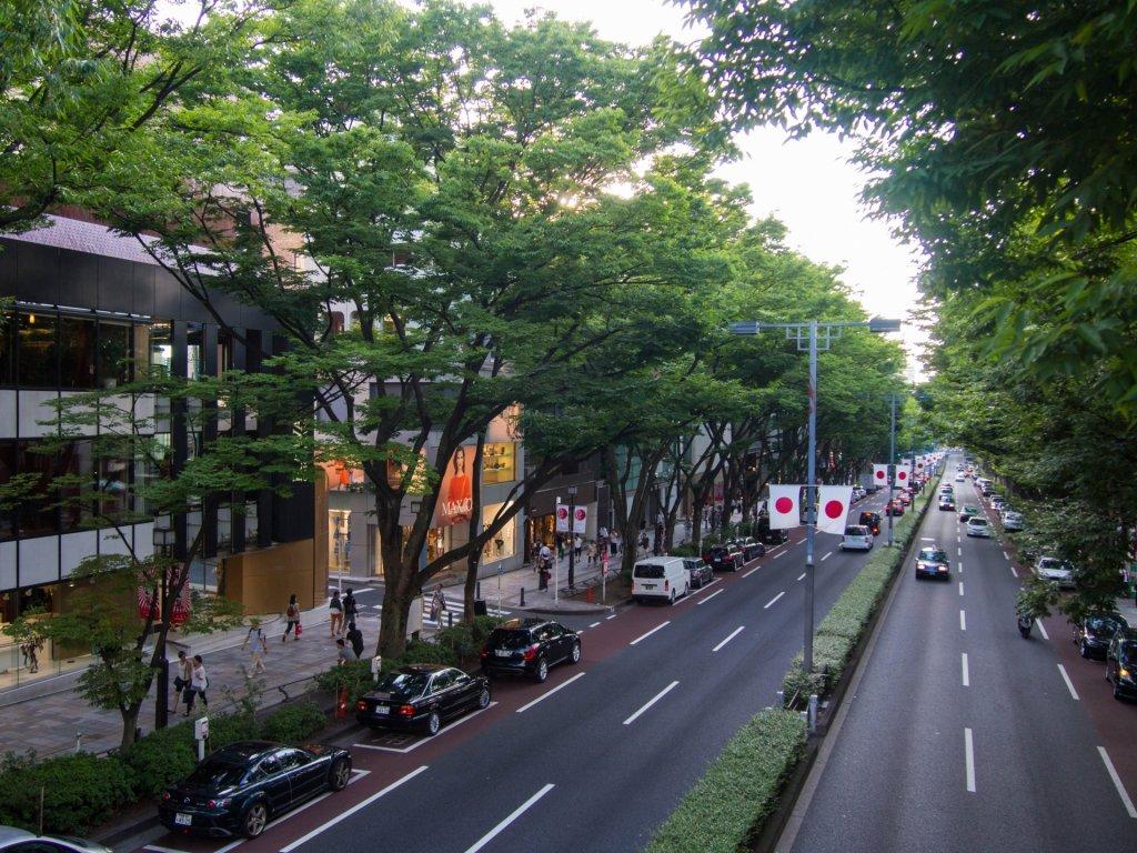表参道の街並みの写真
