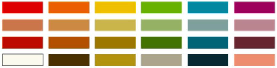 秋色カラー一覧